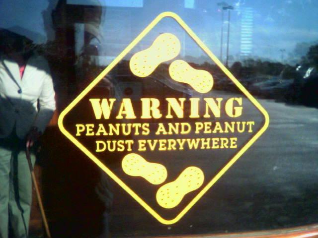 Nut warning