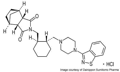 Molecule of Lurasidone.
