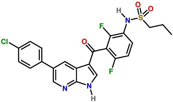 Zelboraf is a drug indicated for the treatment of Metastatic Melanoma. Image courtesy of Boghog2.