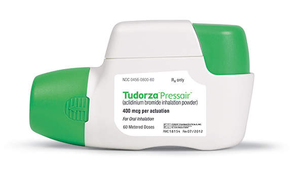 Tudorza Pressair is indicated for the maintenance treatment of long-term bronchospasm associated with Chronic Obstructive Pulmonary Disease (COPD).