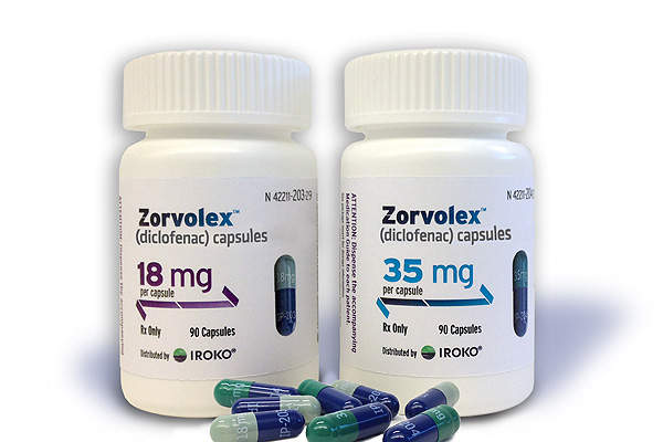 Zorvolex capsules are available in 18mg and 35mg doses.