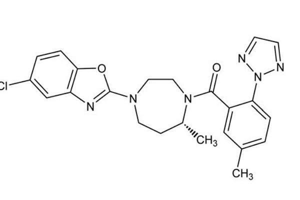 Belsomra contain suvorexant, a highly selective antagonist for orexin receptors OX1R and OX2R. Image: courtesy of Merck&Co.