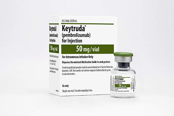 Keytruda is an anti-PD1 therapy that received first FDA's approval  for the treatment of melanoma in September 2014.