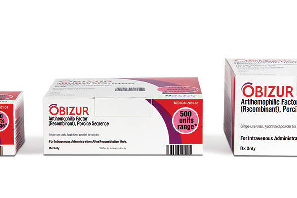 Obizur is the first recombinant porcine FVIII indicated for the treatment of acquired haemophilia A (AHA). Image: courtesy of Baxter International Inc.