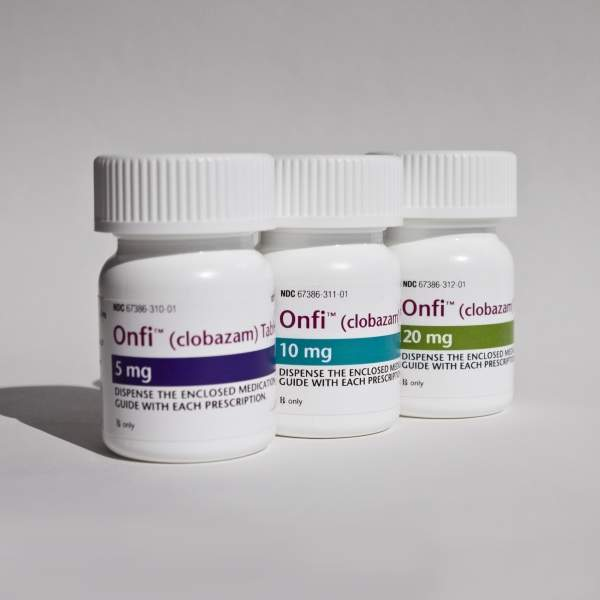 Onfi (clobazam) is an antiepileptic drug approved to treat seizures that are associated with Lennox-Gastaut syndrome (LGS) in patients who are aged two years and above. Image courtesy of Lundbeck.