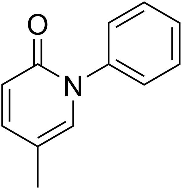 The chemical structure of Pirfenidone. Image courtesy of Edgar181.