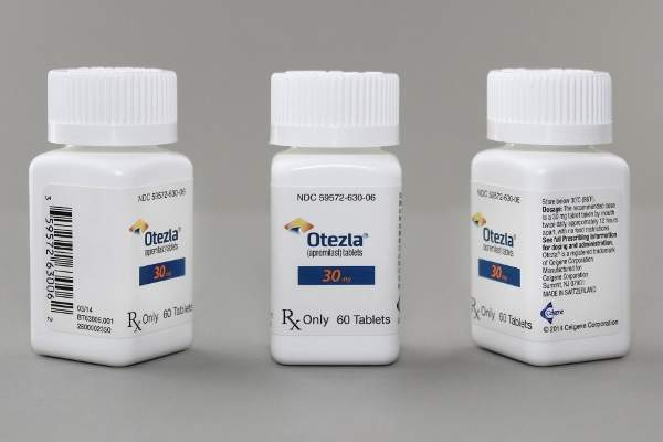 Otezla is used for the treatment of psoriatic arthritis, a joint inflammatory disease that occurs in 30% of psoriasis patients. Image: courtesy of Celgene Corporation.