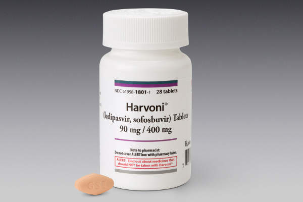 Harvoni is a two-drug fixed-dose combination product containing 90mg of ledipasvir and 400mg sofosbuvir. Image: courtesy of Gilead Sciences.