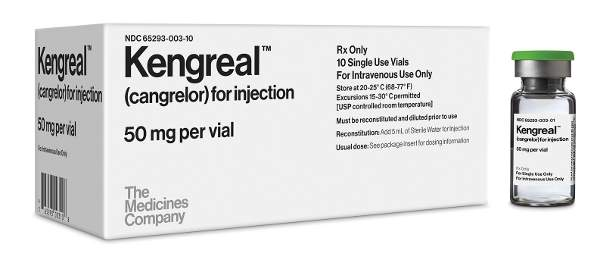 Kengreal (cangrelor) is available in the form of injection for intravenous administration only. Image: Business Wire.