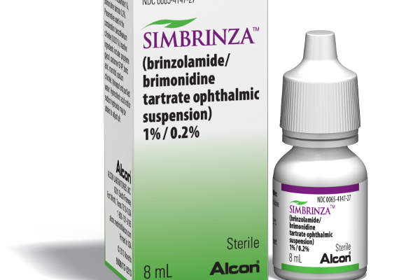 Simbrinza is indicated for the reduction of elevated intraocular pressure (IOP) in glaucoma patients.