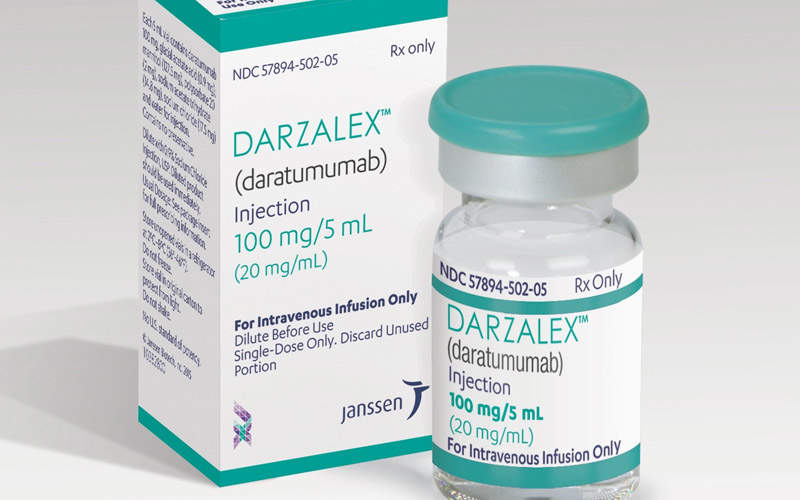 Darzalex (daratumumab) was approved by the FDA in November 2015.  Image: courtesy of Janssen Biotech.