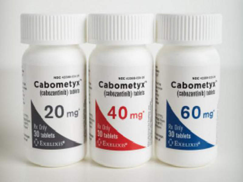 Developed by Exelixis, Cabometyx is approved for the treatment of patients with advanced renal cell carcinoma and hepatocellular carcinoma. Image courtesy of Business Wire.