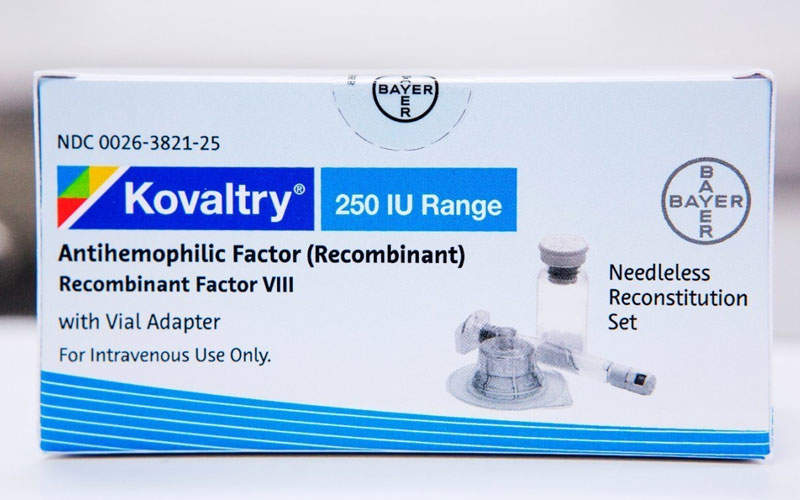 Kovaltry will be available in the form of lyophilised powder in single-use vials containing different dosages 250, 500, 1,000, 2,000 or 3,000 IU of recombinant factor per vial. Image courtesy of PR Newswire.