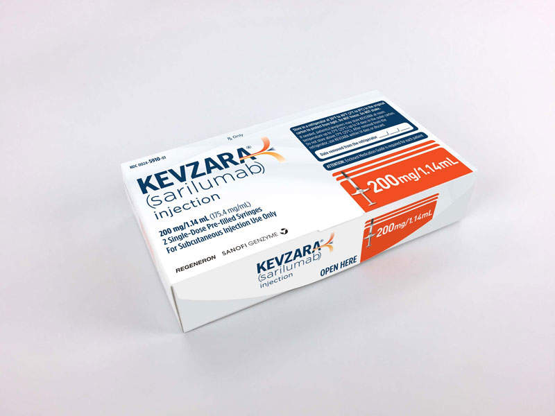 Kevzara® was approved by the US FDA in May 2017.
