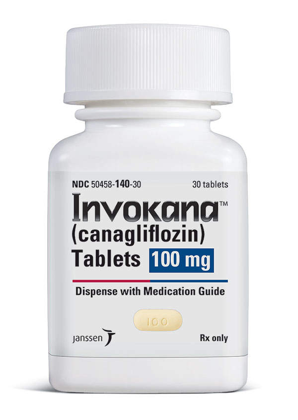 Invokana is indicated for the treatment of type 2 diabetes. Image courtesy of Janssen Pharmaceuticals.