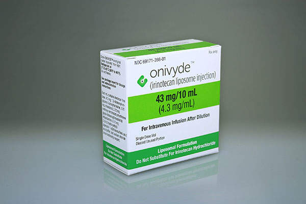 Onivyde is an intravenous injection approved for the treatment of metastatic pancreatic cancer. Image: courtesy of Merrimack Pharmaceuticals.