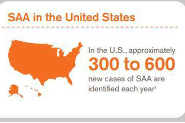 Every year 300 to 400 new SAA cases are identified in the US. Image: courtesy of GlaxosmithKline (GSK).