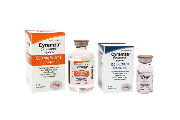Cyramza is available in 500mg/50ml and 100mg/10ml doses.