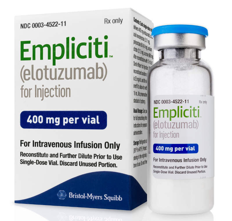 Empliciti is available in 300mg and 400mg vials for injection. Image: courtesy of Bristol-Myers Squibb.