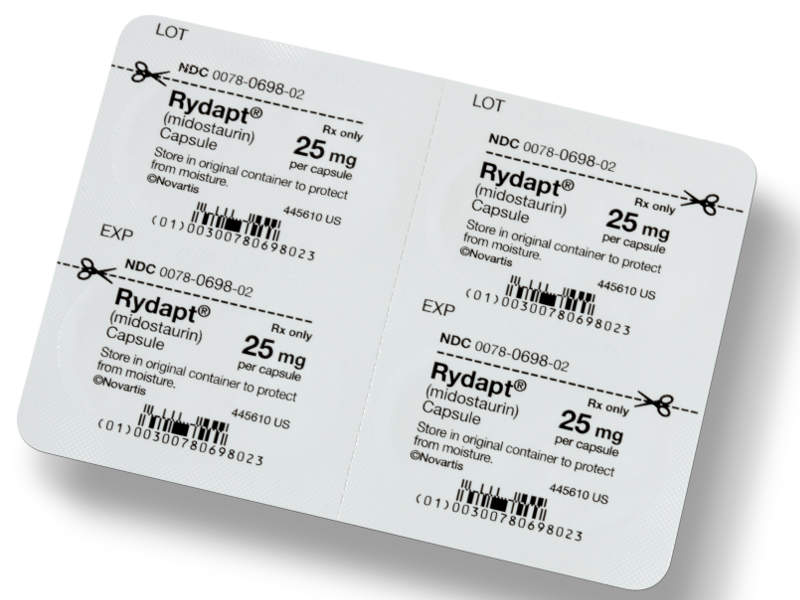 The drug is available in 25mg dose capsule, which can be administered orally. Image courtesy of Novrtis.