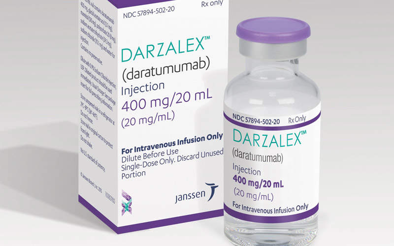 Darzalex is available in 100mg / 5ml and 400mg / 20ml doses meant for intravenous administration. Image: courtesy of Janssen Biotech.