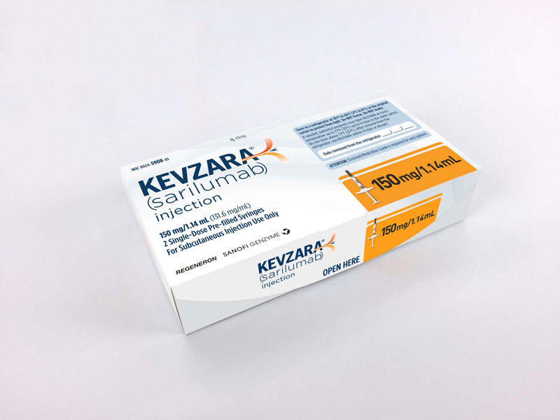 Kevzara® is available in 150mg and 200mg doses.