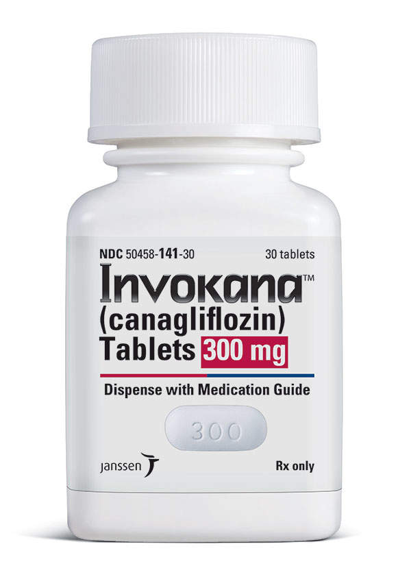 Invokana is available in 100mg and 300mg doses for oral administration. Image courtesy of Janssen Pharmaceuticals.