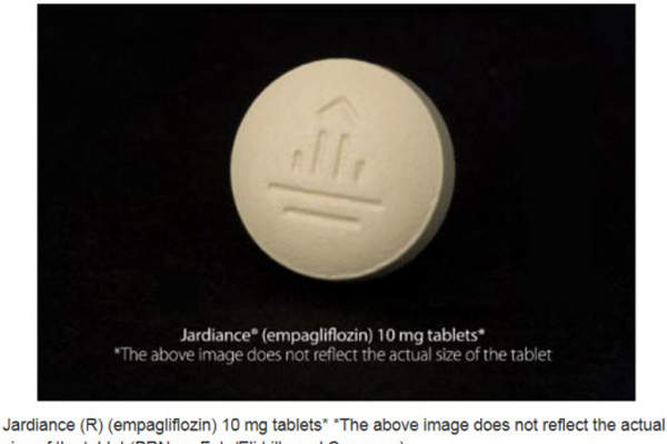 Jardiance® is available in 10mg and 25mg tablets for oral administration. Image courtesy of Eli Lilly and Company.