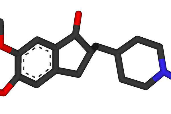 Donepezil hydrochloride (HCl) is an acetylcholinesterase inhibitor used for the treatment of Alzheimer's disease. Image is in the public domain.