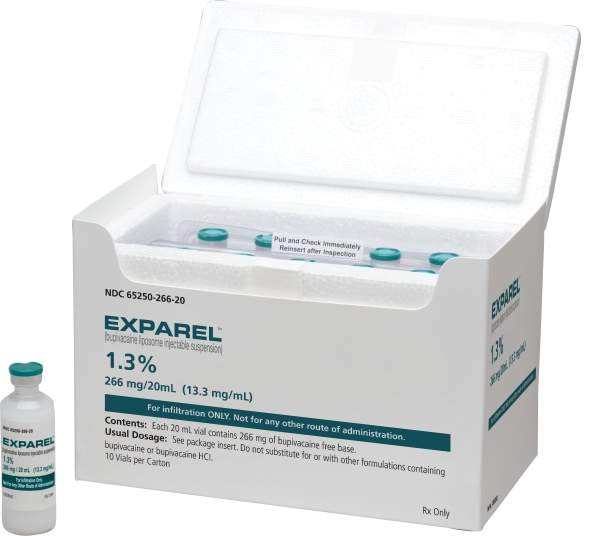 Annual sales of Exparel are estimated at 39 million in the US. Pacira is planning to develop partnerships to market Exparel outside the US. Image courtesy of Pacira Pharmaceuticals.