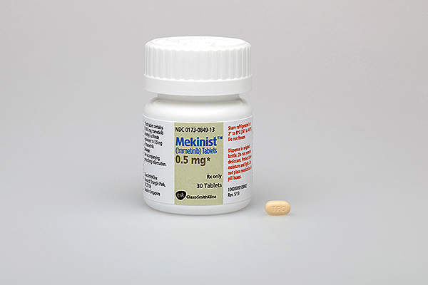 Mekinist is available in 0.5mg dose. Image courtesy of GlaxoSmithKline (GSK).