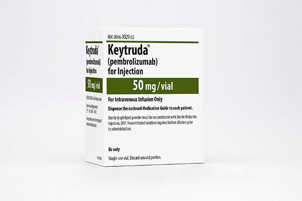 Keytruda is developed and marketed by Merck.