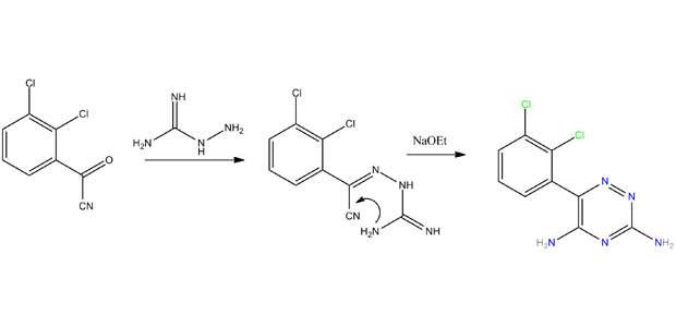 Lamotrigine synthesis.