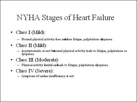 CHF is a progressive disease, which if left untreated leads inexorably to acute heart failure and potentially death.