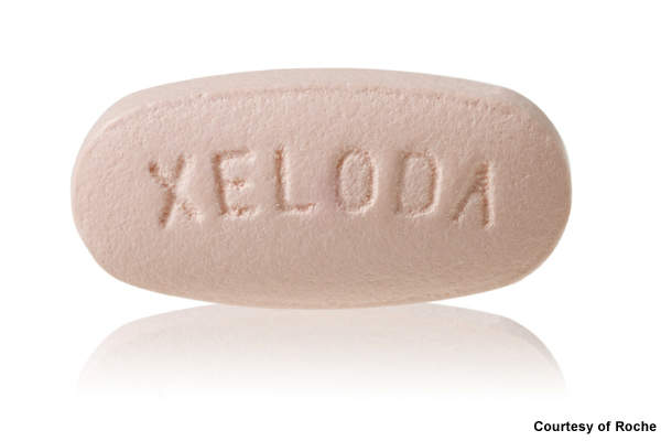 Xeloda: a medicine used to treat advanced colorectal, gastric (stomach) or breast cancer.