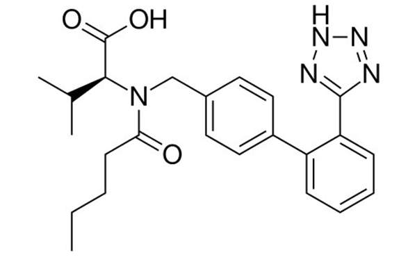 Entresto contains two active components, which are sacubitril, a neprilysin inhibitor and valsartan, an angiotensin receptor blocker. Image: public domain.