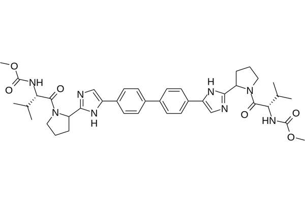 The active ingredient in daclatasvir exhibits dual modes of anti-viral activity. Image is in the public domain.