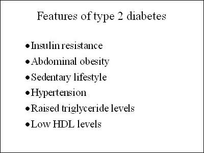 Common characteristics of patients with type 2 diabetes.