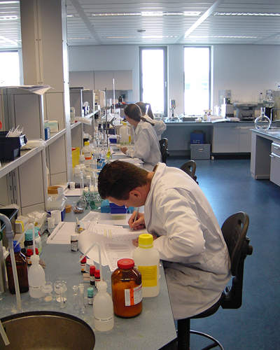 QC testing services in the field of microbiology