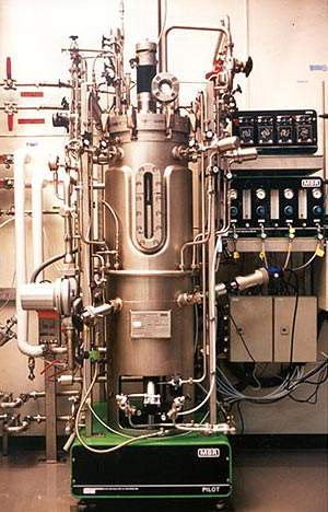 Bioreactors, such as those used at Serono's Biotech Centre in Corsier Vevey, Switzerland, lie at the centre of the biotechnology manufacturing process.