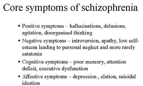 Core symptoms of schizophrenia.