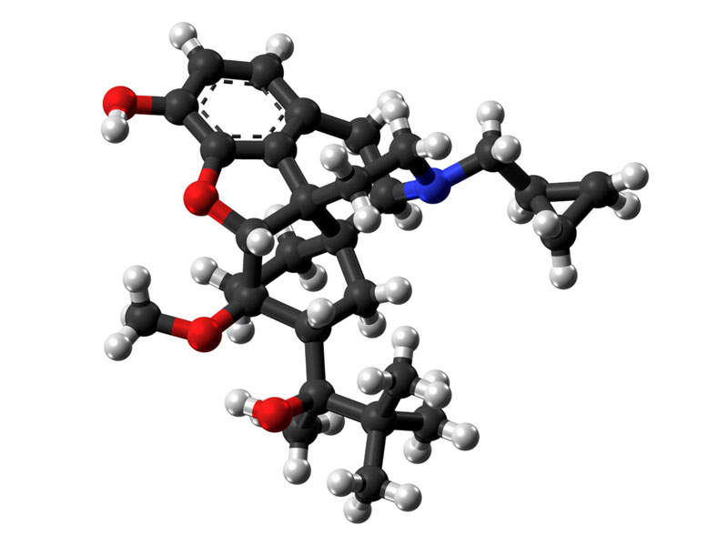 The drug contains buprenorphine, a partial agonist of mu-opioid receptor.