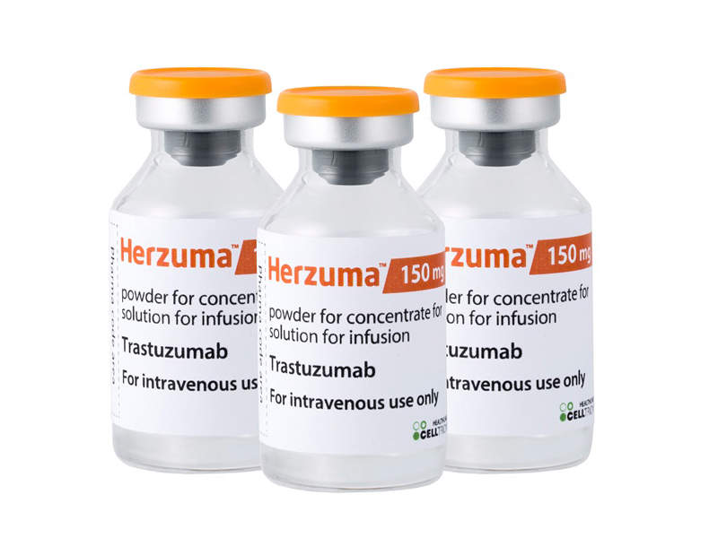 Herzuma® (trastuzumab biosimilar) was approved by the European Commission (EC) in February 2018. Image courtesy of Celltrion.