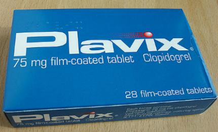 Plavix (clopidogrel), developed by Bristol-Myers Squibb and Sanofi