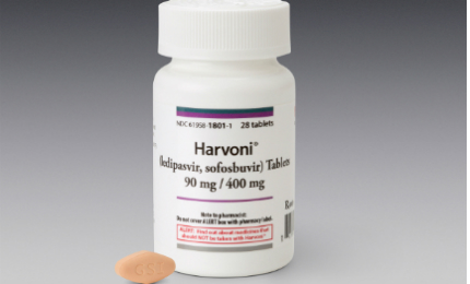 Harvoni is a two-drug fixed-dose combination product containing 90mg of ledipasvir and 400mg sofosbuvir.