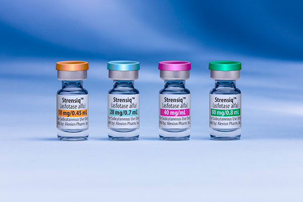 Strensiq (asfotase alfa) is the first FDA approved drug for the treatment of hypophosphatasia (HPP).